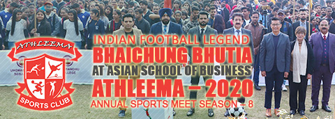 Bhaichung bhutia at Asian School of Business ASB Noida Athleema-2020