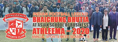 Bhaichung bhutia at Asian School of Business ASB Noida Athleema-2020