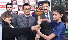 Bhaichung Bhutia at Asian School of Business ASB Noida