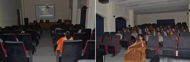 """GNOSIS"" The literary club organised the movie ""The secret- law of attraction"" @AEG"
