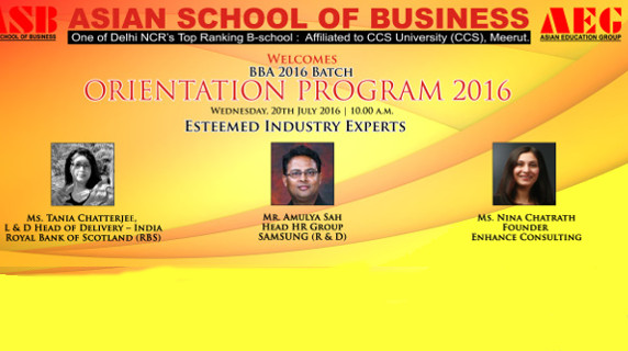 Orientation Program-2016 @ AEG