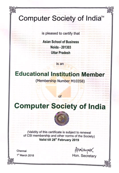 Computer Society of India Membership