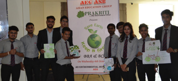 "ASB ""Prakriti Club"" Organized an Environment Awareness  activity on 4th October 2017 for  BBA and BCA students"