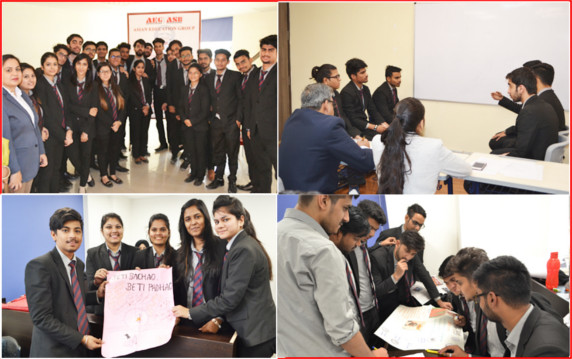 """Innovation and Implementation – Ideas of Budding Managers"" activity organized by The HR Club ""Synergize togetHR"" of ASB"