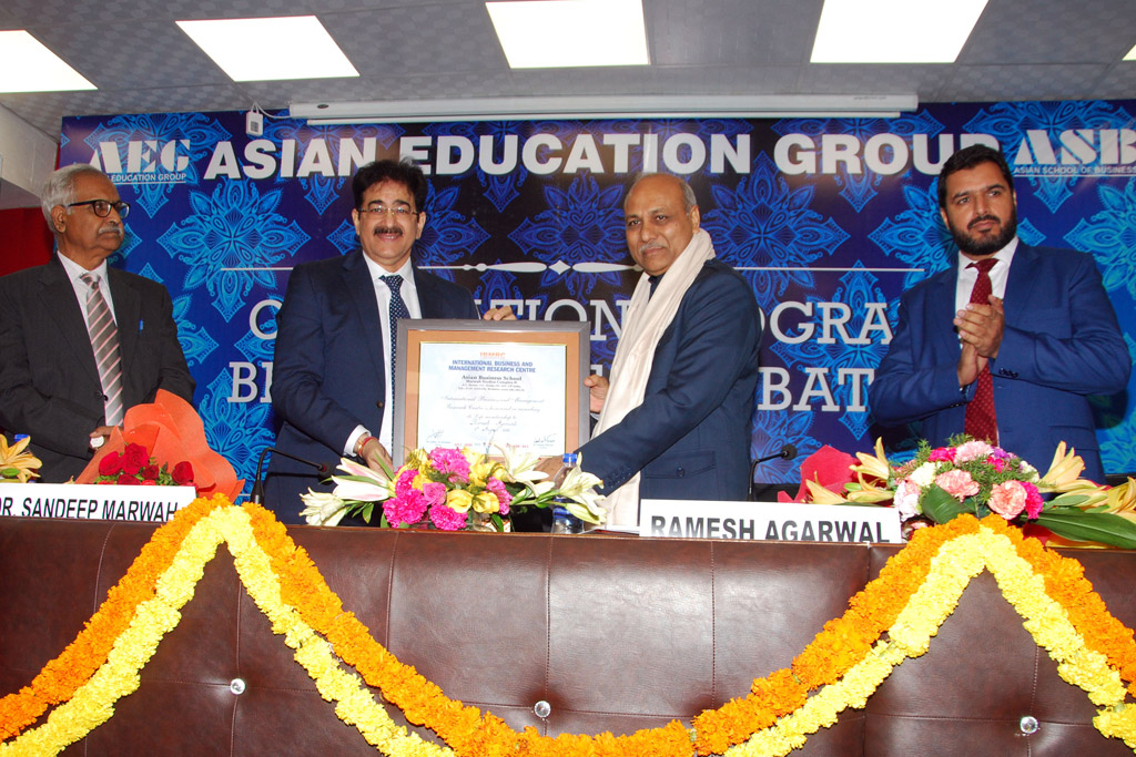 ASB Orientation Programme 2018 – IBMRC Life Time Certificate and Memento IBMRC