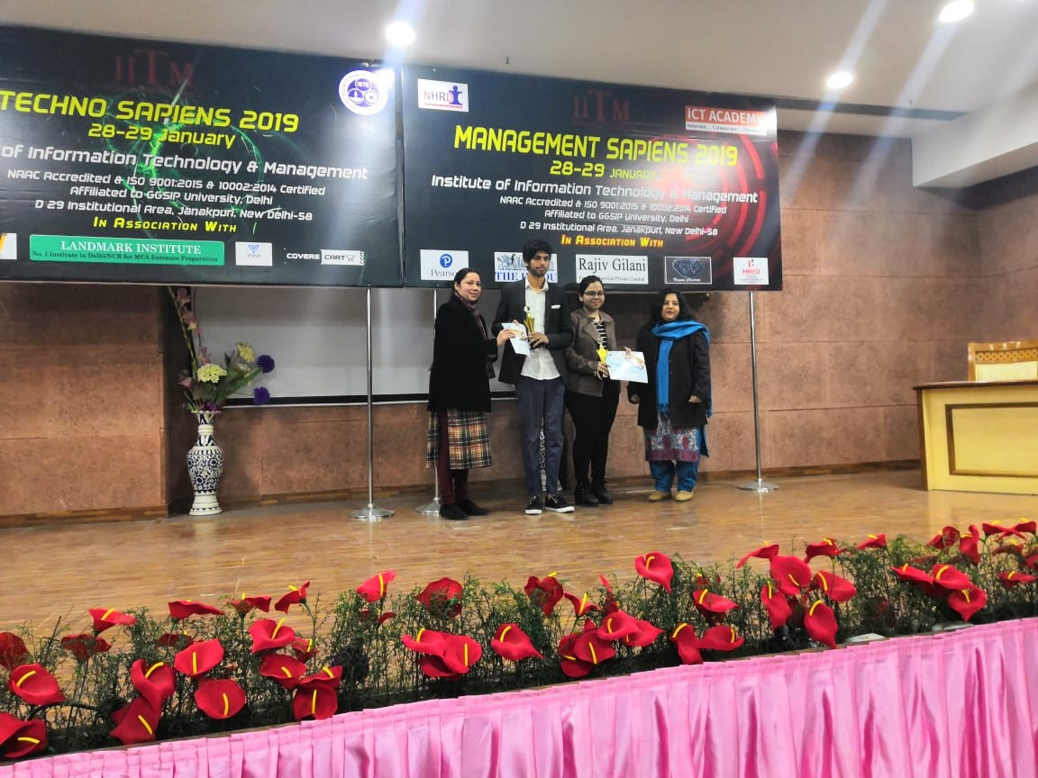 ASB Students sparkle at IITM Janakpuri's Annual Technical and Management Fest