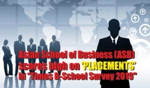 Asian School of Business (ASB)scores high on 'Placements' in 'Times B-School Survey 2019'