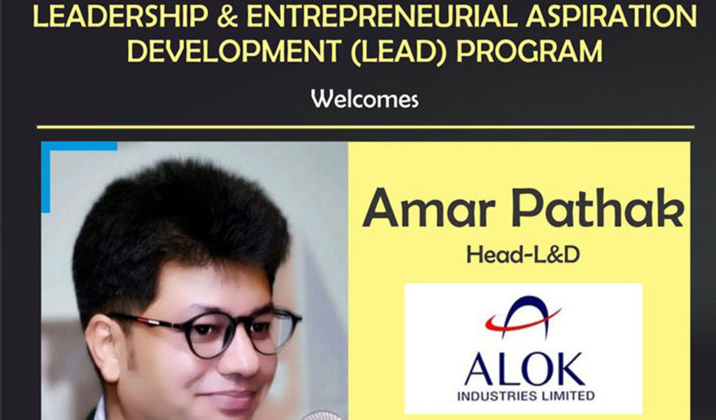 Guest Lecture by Mr. Amar Pathak, Head-L&D, Alok Industries
