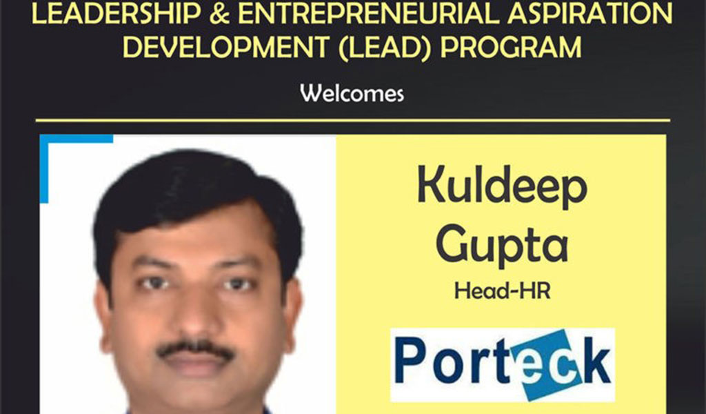 Guest Lecture by Mr. Kuldeep Gupta, Head-HR, Porteck Corporation