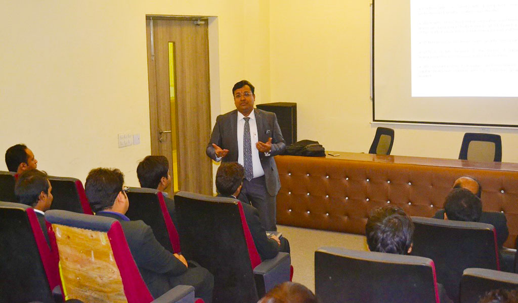 Guest Lecture by Mr. Kunal Singhal, MD, Eazy Business Solutions