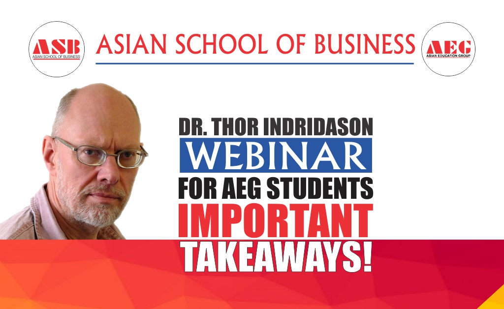 ASB Live WEBINAR on 'Managing Careers' by Dr. Thor Indridason develops into a highly enriching session!