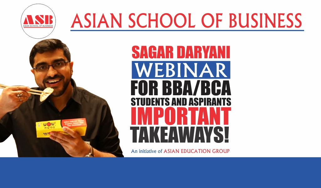 ASB Organizes a Lively WEBINAR Session on 'The Entrepreneurial Journey of Wow! Momo' by its Co-Founder & CEO, Sagar Daryani