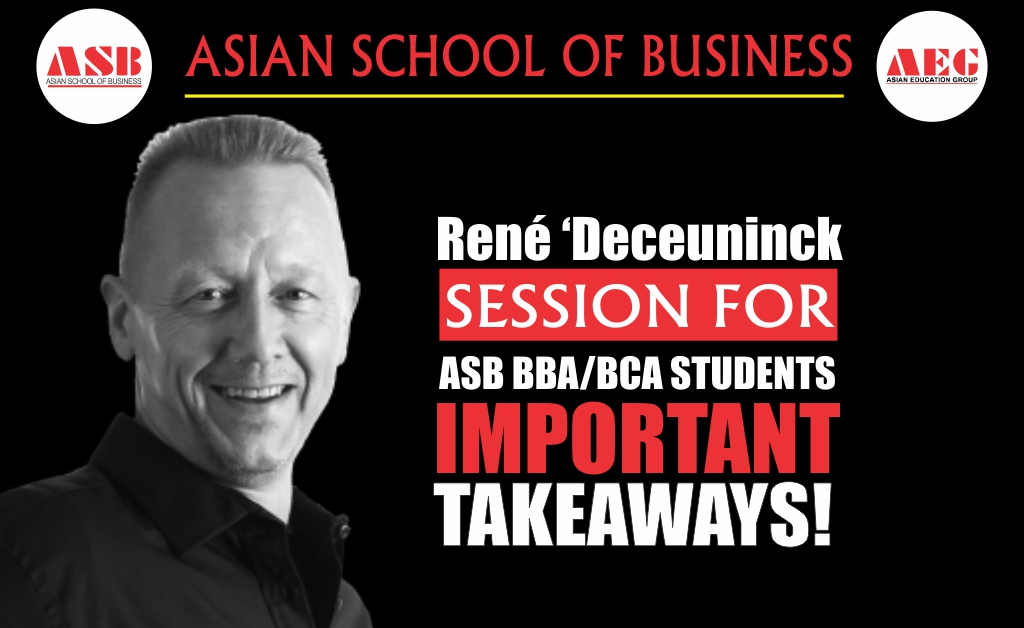 Mr. René Deceuninck, CEO & Founder at IPB Ltd & The Oxford Institute of Body Language, Oxford, UK presents an amazing, invaluable Live Interactive WEBINAR on 'Importance of Body Language in Career Growth' under the LEAD Lecture Series at Asian School of Business!