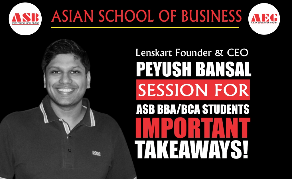E-Commerce Veteran & Lenskart Founder & CEO, Mr. Peyush Bansal delivers the most informative & vibrant Live Interactive WEBINAR on 'The Lenskart Journey' under the LEAD Lecture Series at Asian School of Business!