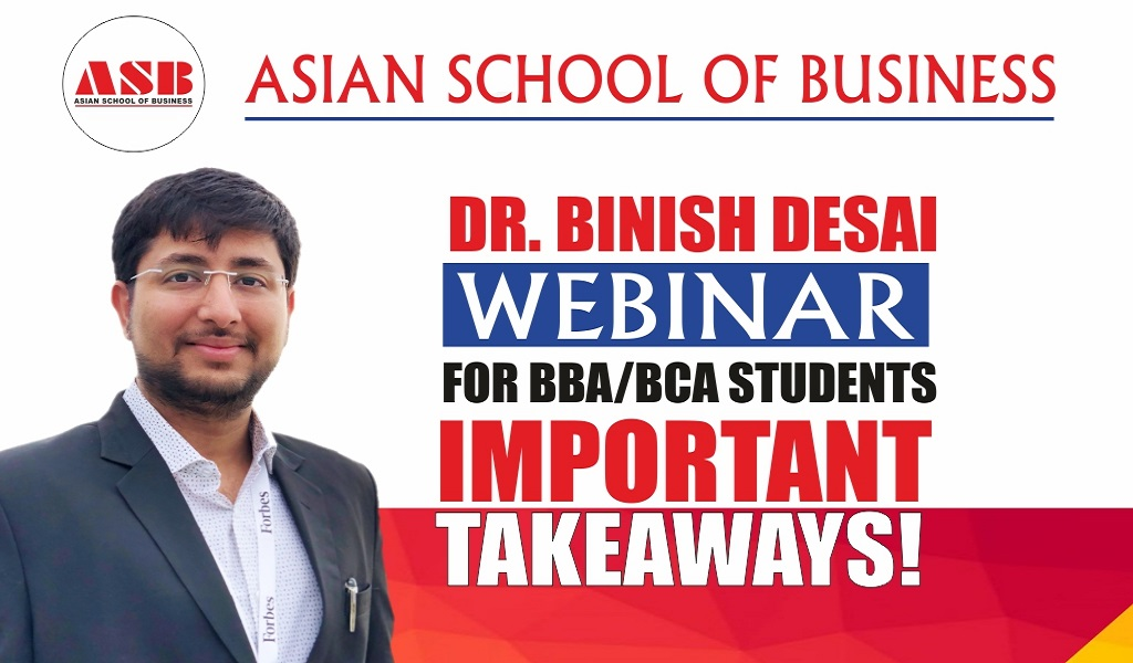 """ASB organizes a deeply stimulating live session by renowned Social Entrepreneur & Innovator, DR. BINISH DESAI – more famously known as """"THE RECYCLE MAN OF INDIA""""!"""