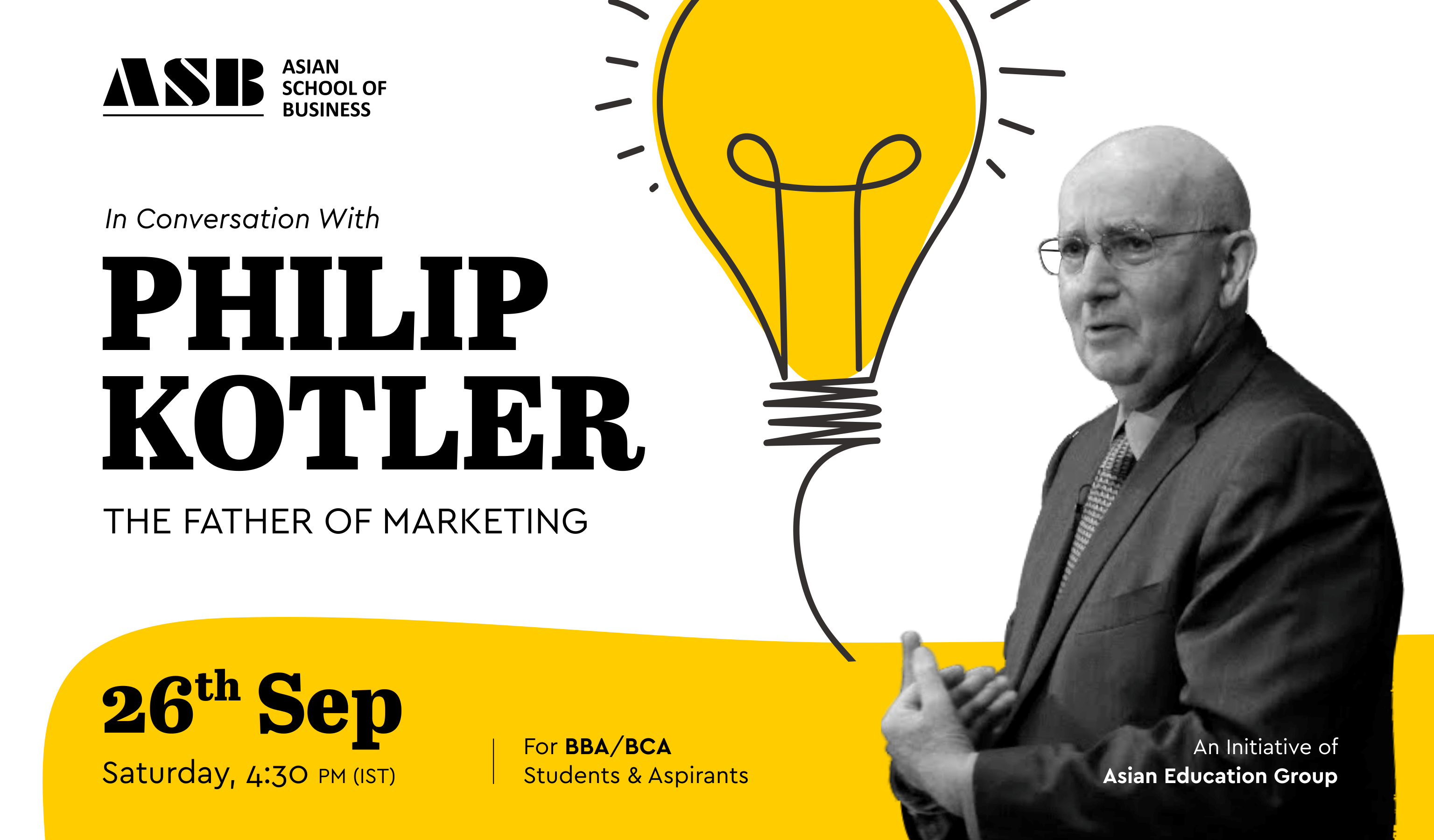 In Conversation with the Father of Modern Marketing Philip Kotler – An Interactive Session for BBA & BCA Students