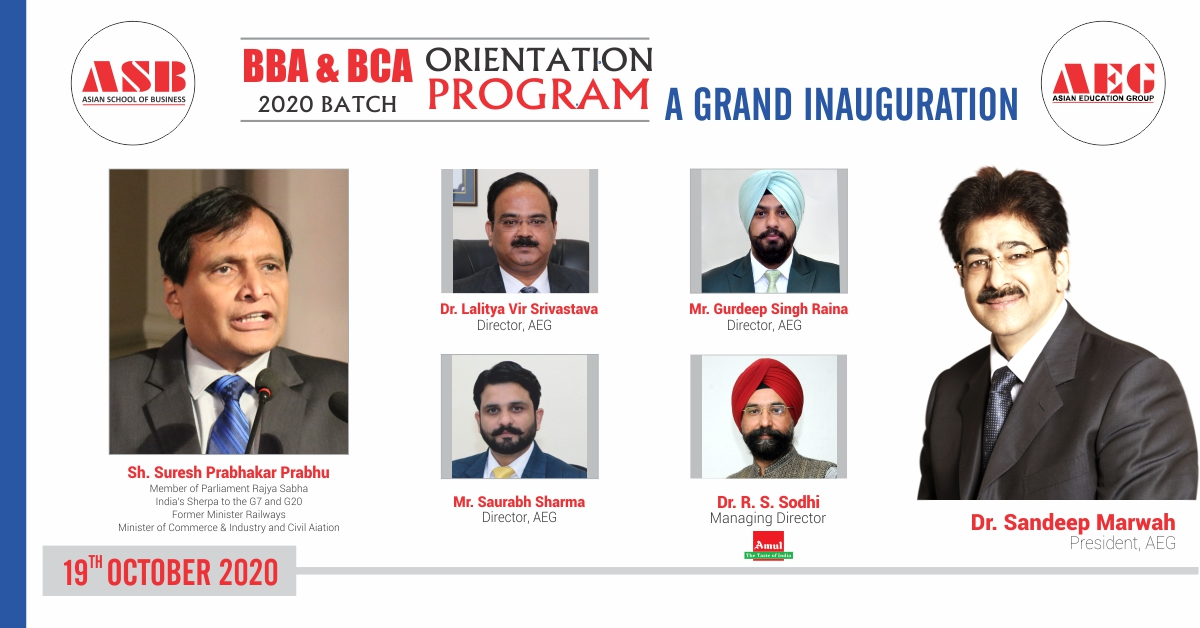 Asian School of Business inaugurates its BBA & BCA Orientation 2020 Program with great dignity!