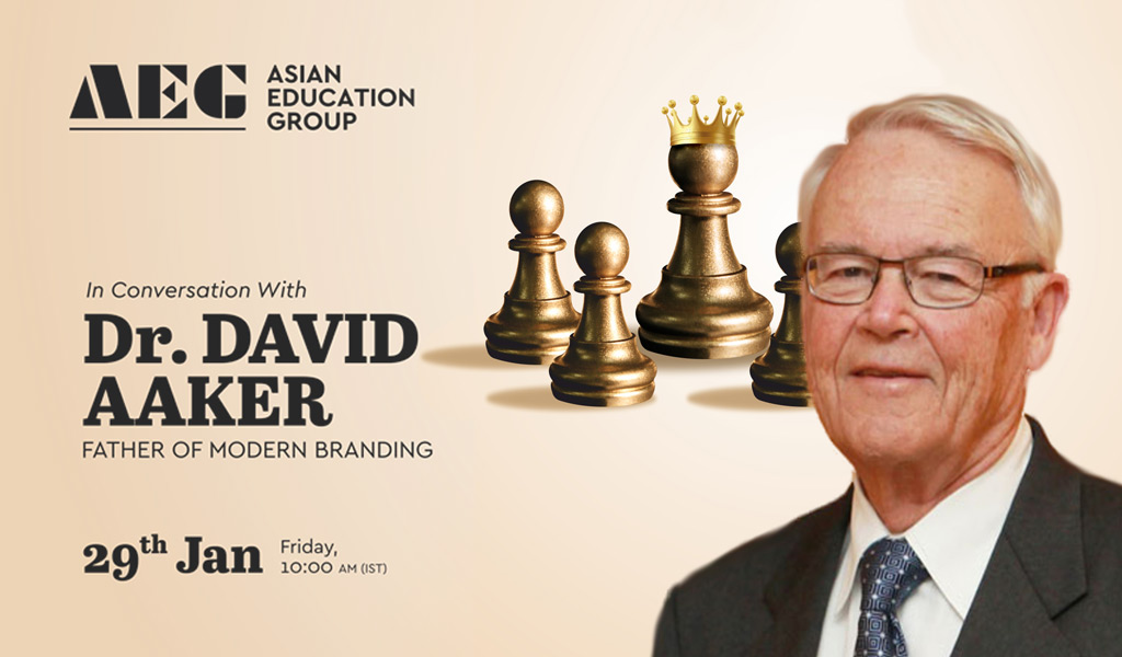 "ASB to host Dr. DAVID AAKER – ""The Father of Modern Branding"" – for a Live Interactive session on Friday, 29th January 2021 at 10:00 am!"