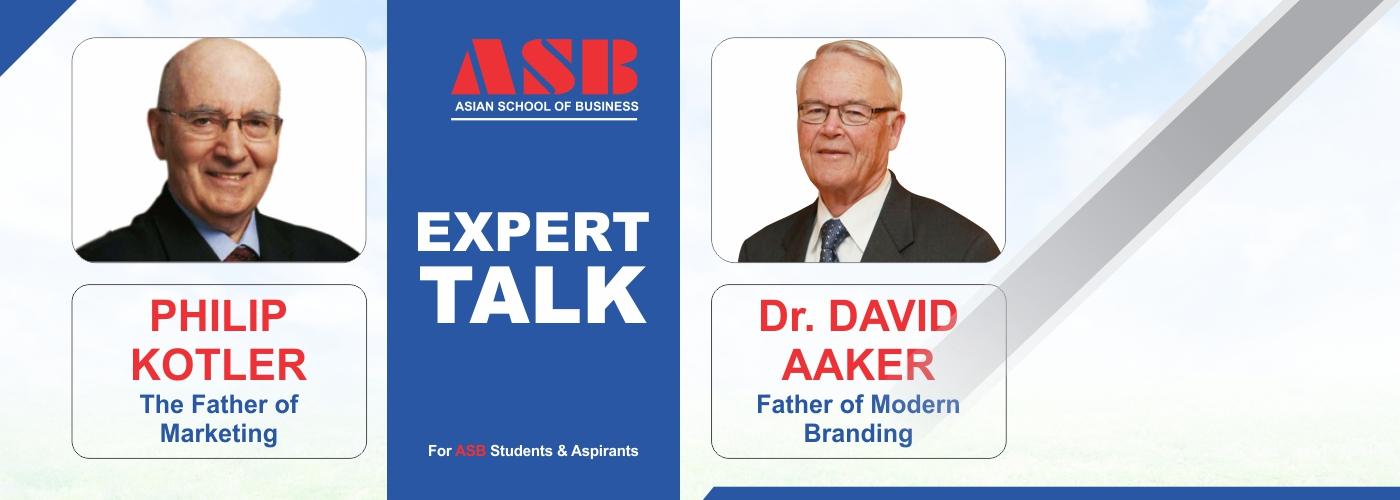 David Aaker & Philip Kotelar webinar-at-asian-school-of-business-bba-bca-colleges-in-noida