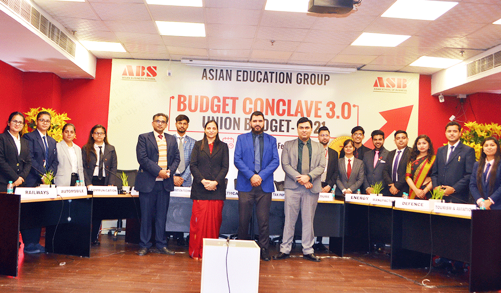 "ASB's Finance Club, BULLS n BEARS organizes a knowledge-packed educative activity – ""BUDGET CONCLAVE 3.0"" – for its BBA/BCA students"