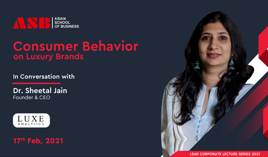 "Dr. SHEETAL JAIN – ""Luxury Industry Expert"" – delivers a highly enriching live session for ASB BBA/BCA students!"