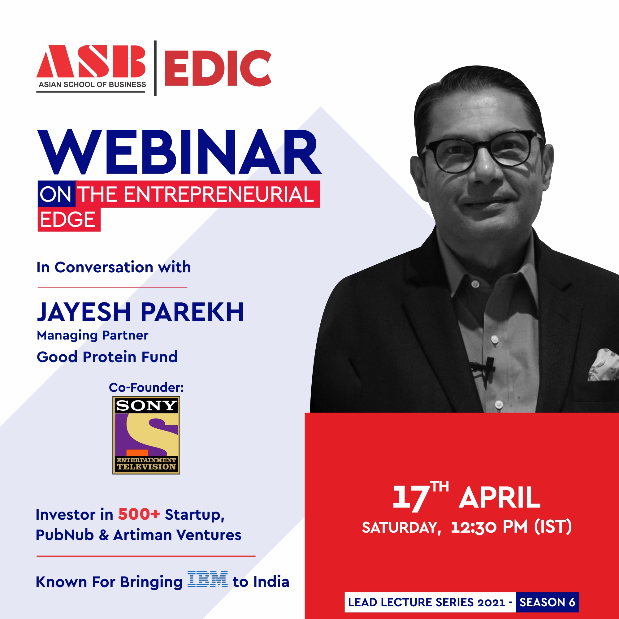 Mr. JAYESH PAREKH – offers a highly insightful live session for ASB  students!