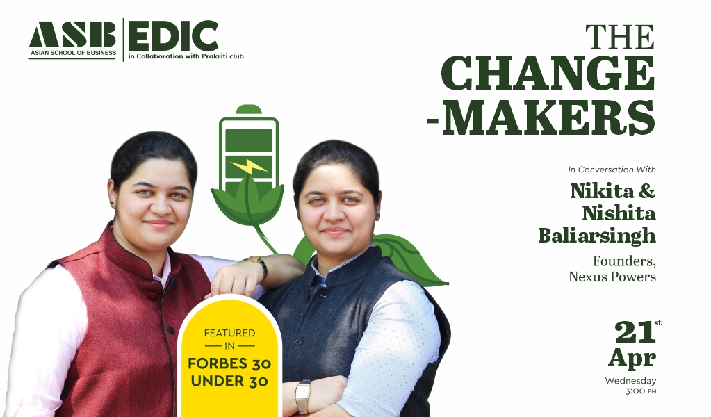 Webinar session with Ms. Nikita & Nishita Baliarsingh, Founders-Nexus Power for ASB BBA/BCA/B.Com students!
