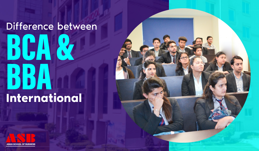Difference between BCA and BBA International
