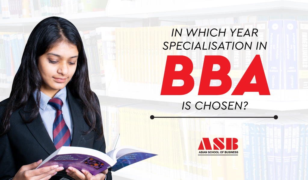 In which year specialization in BBA is chosen?