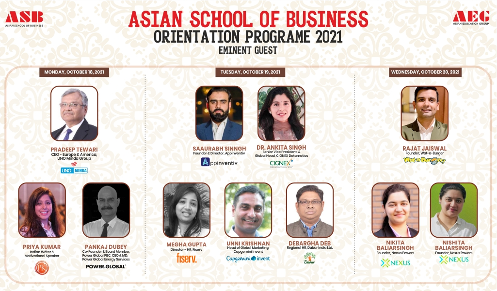 Asian School of Business inaugurates its BBA/BCA/B.Com Orientation Programme 2021 with great fanfare!